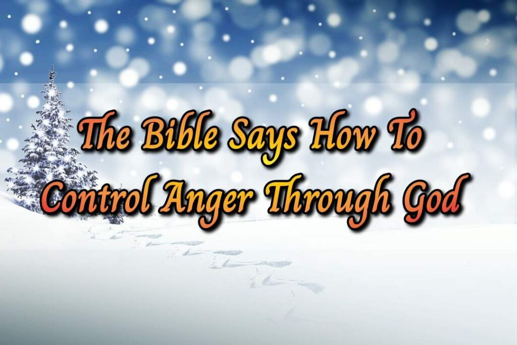 Deal With Anger God's Way