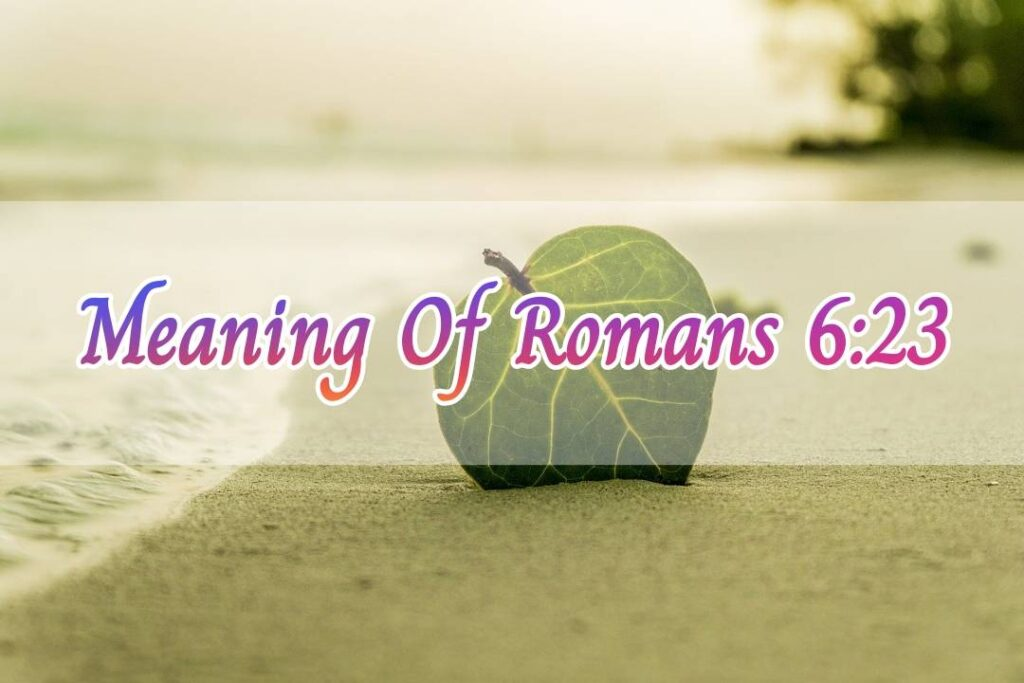 Meaning of Romans 6:23