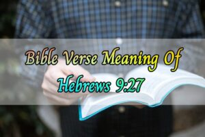 Meaning of Hebrews 9:27